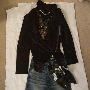 Jackets & Blazers - BlankNYC black velvet jacket